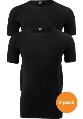 Alan Red stretch T-shirt Ottawa (2-pack), O-hals, zwart