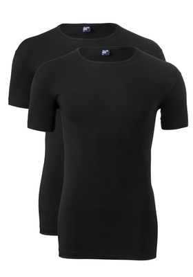 Alan Red stretch T-shirt Ottawa (2-pack), O-hals, zwart