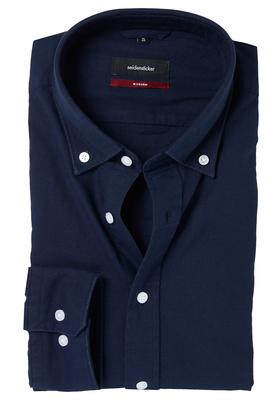 Seidensticker Modern Fit overhemd, blauw (button-down)