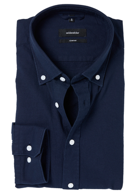 Seidensticker Comfort Fit overhemd, donkerblauw button-down