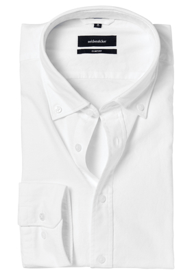 Seidensticker Comfort Fit overhemd, wit button-down