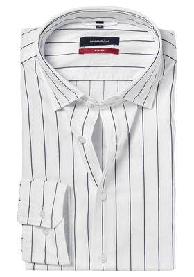 Seidensticker Modern Fit overhemd, blauw met wit gestreept