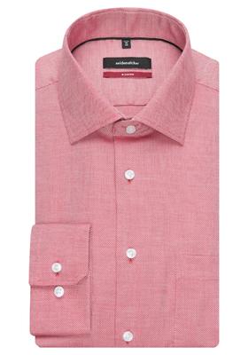 Seidensticker Modern Fit overhemd, rood
