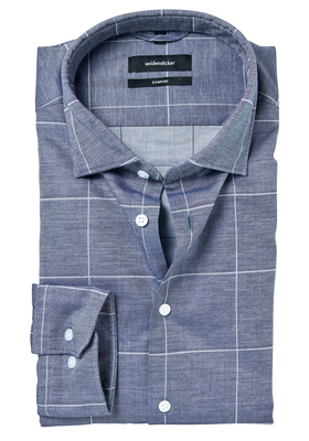 Seidensticker Comfort Fit overhemd, blauw geruit