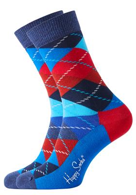 Happy Socks sokken Argyle Sock rood-blauw