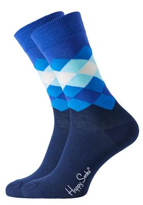 Happy Socks herensokken Faded Diamond Sock blauw