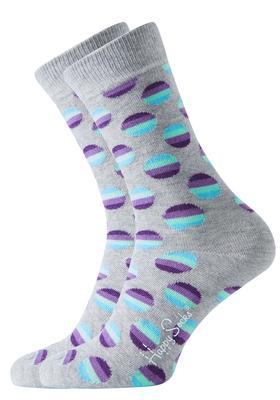 Happy Socks sokken Sunrise Dot Sock, grijs met paars