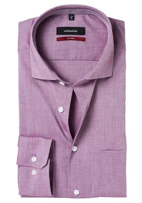 Seidensticker Modern Fit overhemd, bordeaux rood (contrast)