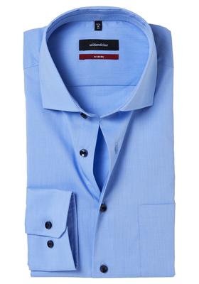 Seidensticker Modern Fit overhemd, lichtblauw (gestipt contrast)