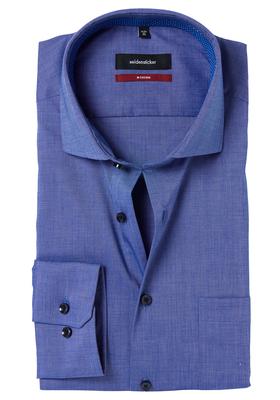 Seidensticker Modern Fit overhemd, blauw (gestipt contrast)