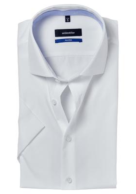 Seidensticker Tailored Fit overhemd korte mouw, wit (contrast)