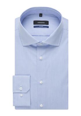 Seidensticker Tailored Fit, lichtblauw gestreept (contrast)