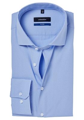 Seidensticker Tailored Fit, lichtblauw gestipt (contrast)