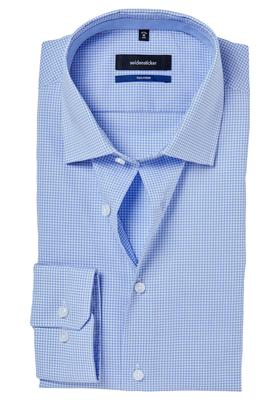 Seidensticker Tailored Fit, lichtblauw geruit (contrast)