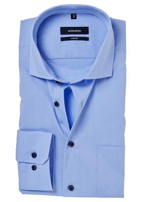 Seidensticker Comfort Fit overhemd, lichtblauw (gestipt contrast)