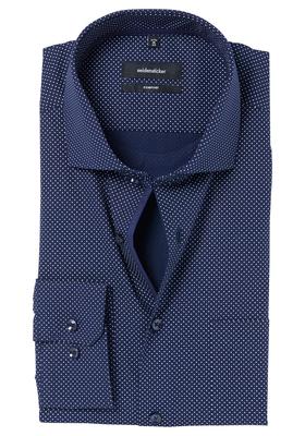 Seidensticker Comfort Fit overhemd, donkerblauw gestipt (contrast)