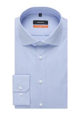 Seidensticker Slim Fit overhemd, lichtblauw gestreept (contrast)