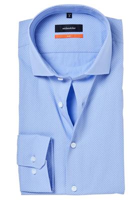 Seidensticker Slim Fit overhemd, lichtblauw gestipt (contrast)