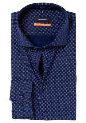Seidensticker Slim Fit overhemd, donkerblauw gestipt (contrast)