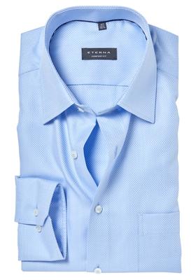ETERNA Comfort Fit overhemd, lichtblauw structuur