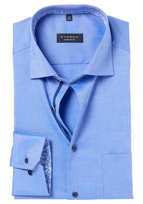 ETERNA Comfort Fit overhemd, blauw structuur (contrast)