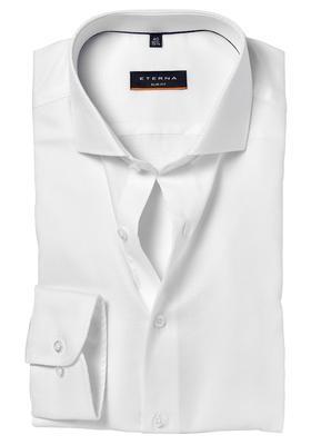 ETERNA Slim Fit Stretch overhemd, wit structuur