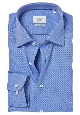 ETERNA 1863 Modern Fit overhemd, blauw structuur (premium)