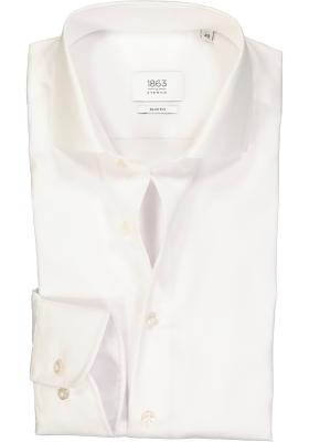 ETERNA 1863 slim fit premium overhemd, 2-ply twill heren overhemd, wit