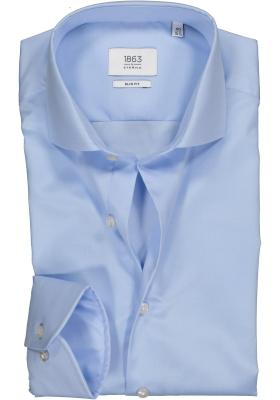 ETERNA 1863 slim fit premium overhemd, 2-ply twill heren overhemd, lichtblauw