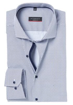 Eterna Modern Fit overhemd, blauw dessin (contrast)