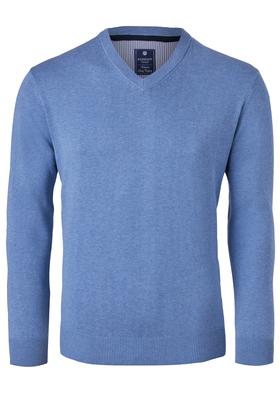 Redmond heren trui katoen, V-hals, blauw