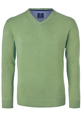 Redmond heren trui katoen, V-hals, groen