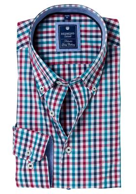 Redmond Regular Fit overhemd, groen-blauw-rood geruit