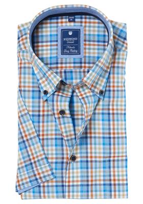 Redmond Regular Fit overhemd korte mouw, geruit