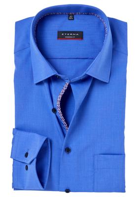 Eterna Modern Fit overhemd, Mouwlengte 7, blauw (contrast)