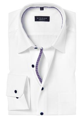 ETERNA Comfort Fit overhemd, mouwlengte 7, wit (rood-wit-blauw contrast)