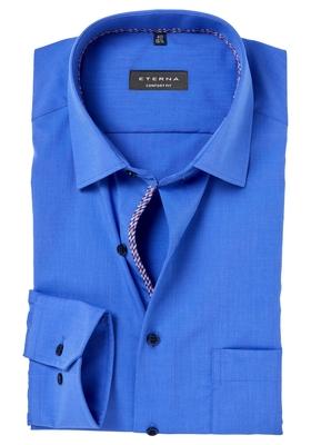 ETERNA Comfort Fit overhemd, mouwlengte 7, blauw (rood-wit-blauw contrast)