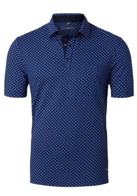 Eterna Modern Fit poloshirt, Eterna Modern Fit poloshirt, blauw dessin (contrast)