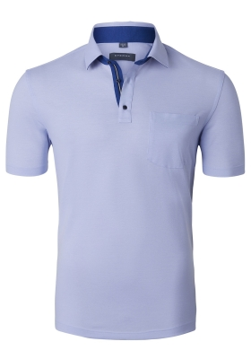 Eterna Comfort Fit poloshirt, lichtblauw (contrast)