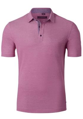 Eterna Comfort Fit poloshirt, roze melange (contrast)