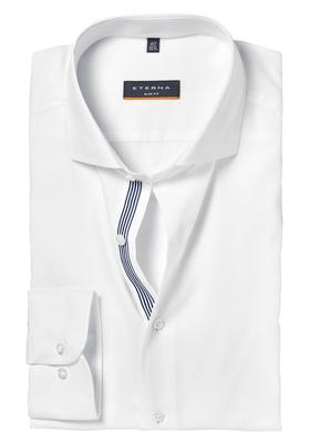 ETERNA Slim Fit Stretch overhemd, wit (contrast)