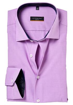ETERNA Slim Fit overhemd, oud roze (contrast)