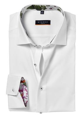 Overhemd Wit Slim Fit.Eterna Slim Fit Overhemd Wit Contrast Vakantiedeals