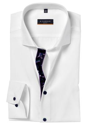 ETERNA Slim Fit overhemd, wit (contrast)