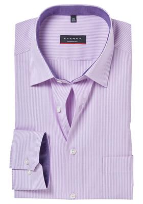 ETERNA Modern Fit overhemd, roze gestreept (contrast)