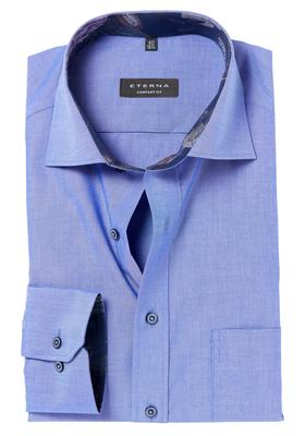 ETERNA Comfort Fit overhemd, blauw (dessin contrast)