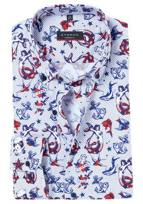 ETERNA Modern Fit overhemd, nautisch dessin