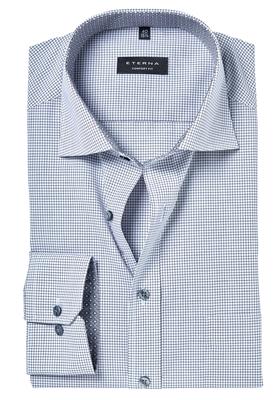ETERNA Comfort Fit overhemd, antraciet grijs geruit (contrast)