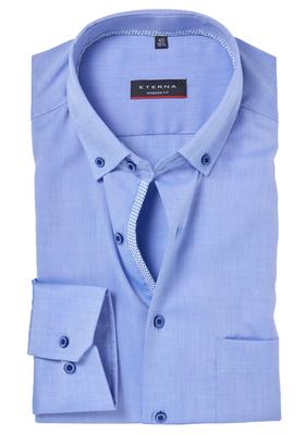 ETERNA Modern Fit overhemd, blauw (contrast)