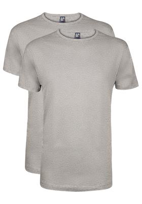 Alan Red T-shirts Derby (2-pack), O-hals, grijs gemêleerd